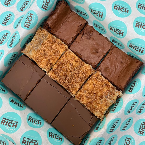 The Ridiculously Rich Brownie Box