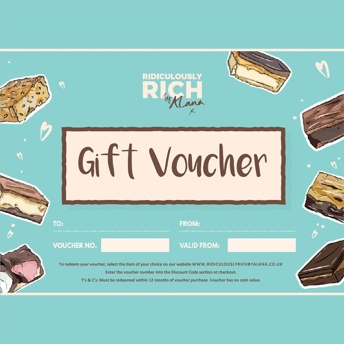 Cake vouchers ridiculously rich gift vouchers gift a ridiculously rich by alana treat negle Images